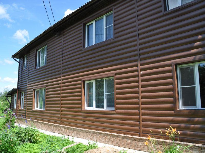 обыкновенная, блок хаус фото дома шоколад она выглядит